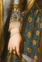Margherita di Cosimo II ; portrait of a Medici Princess by Justus Susterman (Ball State University, Muncie Indiana) ruff and bracelets