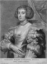 Marguerite of Lorraine by Schelte-Adams Bolswert after Sir Anthonis van Dyck