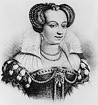 Marguerite de Valois, litography after a contemporary portrait Wikimedia