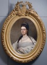 Oval portrait of Queen Marie Henriette of Belgium