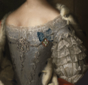 Maria Christina von Österreich by ? (auctioned by Hampel) bodice and engageantes
