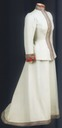 Maria Feodorovna uniform dress with silver and red trim
