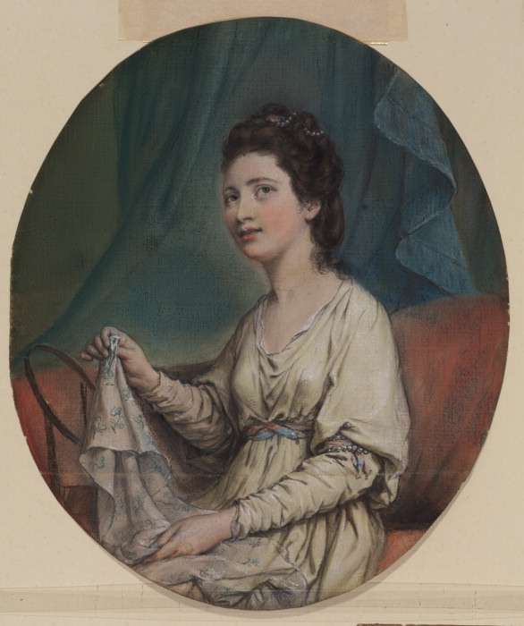 Maria Gunning, Countess of Coventry by Hugh Douglas Hamilton, c.1760