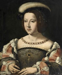 Maria of Portugal, Duchess of Viseu (18 June 1521 – 10 October 1577) by ? (location ?) From pinterest.com:dianariveraguil:royals: fixed left, upper, and right edges X 1.5