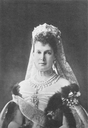 1902 Maria Pavlovna wearing tiara, veil, and jewels