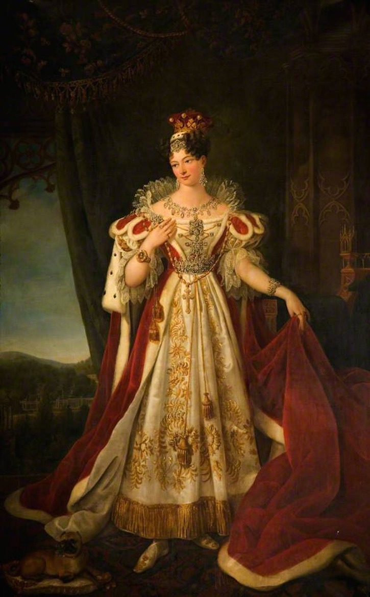 Maria Theresa, Countess of Shrewsbury (1795–1856) by ? (Ingestre Hall Residential Arts Centre -  Ingestre, Staffordshire, UK) bbc.co X2