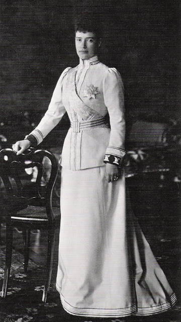 Maria Feodorovna in uniformPosted to the Alexander Palace Time Machine Discussion Forum by kmerov on 8 November 2009
