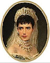 1885 Maria Feodorovna miniature portrait by or after Makovsky