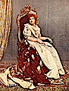 1887 Maria Pia of Portugal seated in a color photo