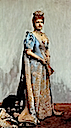 1887 Maria Pia wearing blue court dress