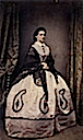 Queen Maria Sophie, wearing a lace shawl