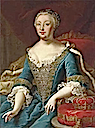 Maria Theresa wearing a dress with a vee neckline by Jean Ranc (private collection)