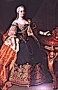 Maria Theresia in dark blue dress probably by Martin van Meytens (location unknown to gogm)
