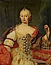 Maria Theresia, Queen of Hungary attributed to Martin van Meytens (auctioned by Tajan)