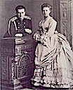 Maria Alexandrovna and her brother, Grand Prince Vladimir
