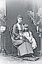 1881 Maria Alexandrovna of Russia and daughter Missy (later Queen Marie of Romania)