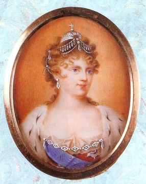 Maria Feodorovna miniature by ? (location unknown to gogm)