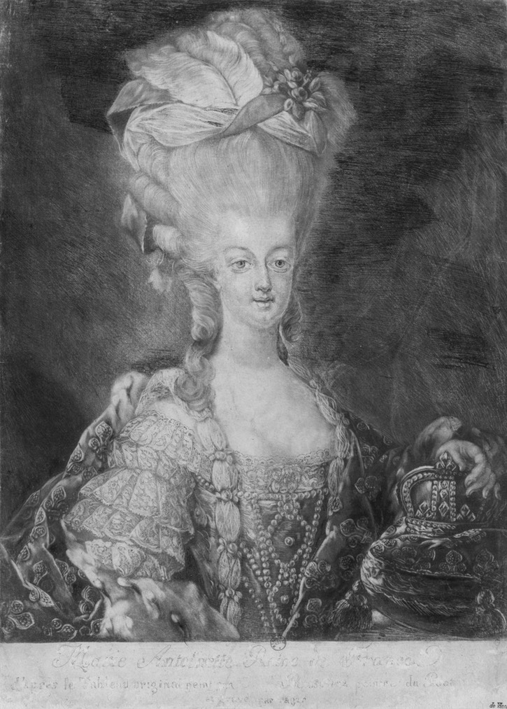 Marie Antoinette d'Autriche, reine de France by ? (Bibliothèque nationale de France - Paris, France) Wm detint