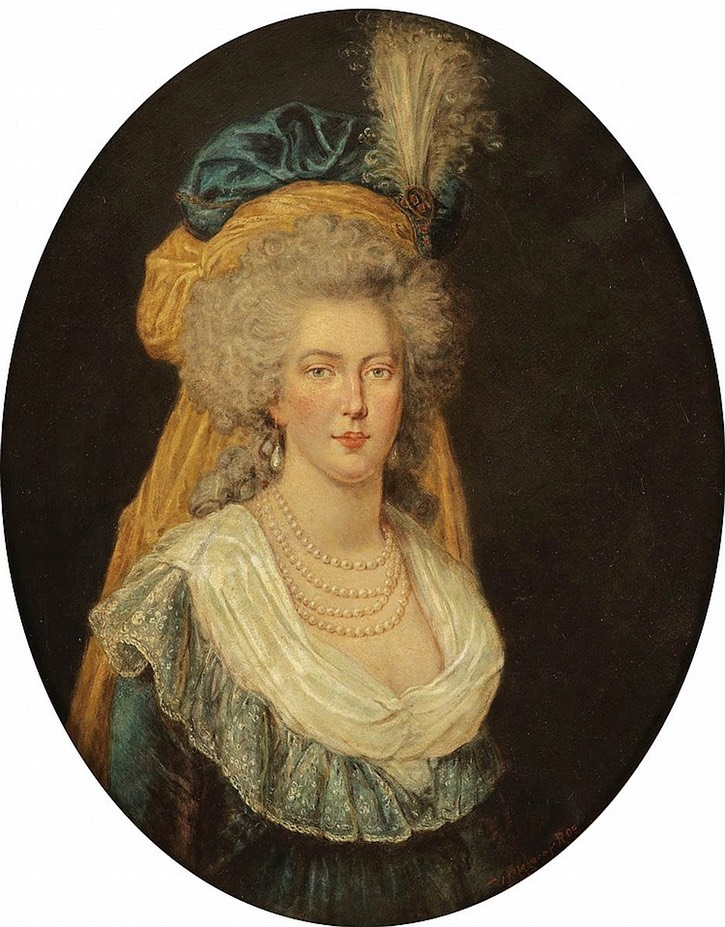 marie antoinette wearing bouffant coiffure and saffron veil by location grand ladies gogm. Black Bedroom Furniture Sets. Home Design Ideas