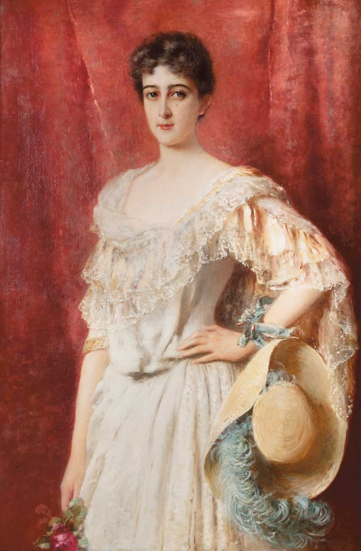 Marie-Marthe des Monstiers-Mérinville, née von Oesterreich by Konstantin Makovsky (auctioned by Delorme Collin du Bocage - Paris, France) From www.liveinternet.ru:users:svitania:tags:%EF%EE%F0%F2%F0%E5%F2:page3