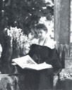 Marie of Romania reading in garden From antique-royals.tumblr.com despot increased exposure trimmed