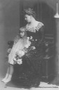 Marie Romania wearing dark dress with Elisabeth