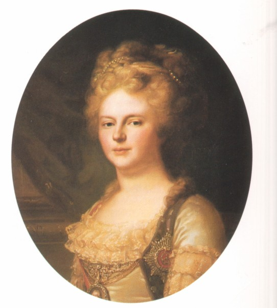 Marie Federovna portrait presumably by or after Lampi (location unknown to gogm)