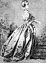 Marquise de Pompadour (?) in pencil by François Boucher (location unknown to gogm)
