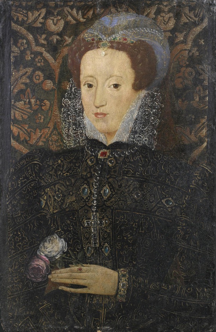 Mary, Queen of Scots by ? (location ?) From liveinternet.ru:users:loreleya-62:post339859042: fix l. and r. edges and lower corners
