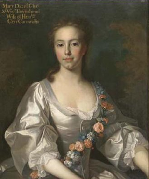 1763 Mary Townshend, the daughter of Charles Townshend, 2nd Viscount Townshend of Raynham and Dorothy Walpole, wife of Edward Cornwallis, by Sir Allan Ramsay (location unknown to gogm) From wikiart resized
