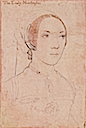 Mary Brandon, Lady Monteagle, daughter of Charles Brandon, step-daughter of Mary Tudor by Hans Holbein the Younger