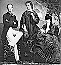 Mathilde Trani (center), Maria Sophie (right), and Ludwig Viktor of Austria