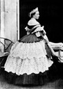 Mid 1860s Crown Princess Victoria wearing a dressy crinoline