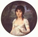 Miniature of portrait of Christine Boyer by Jean-Baptiste Isabey (Museo Napoleonico - Roma, Italy)