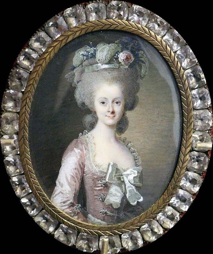 Miniature of the princesse Lamballe by Roslin (location ?) Posted to marie-antoinette.forumactif.org:t114p225-portraits-de-la-princesse-de-lamballe by La nuit, la neige on 3 November 2015 X 1.5