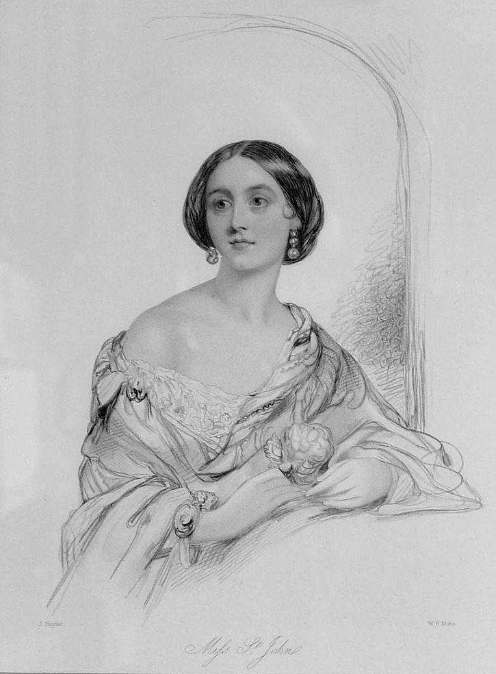 Miss St. John, daughter of Henry, 4th Viscount Bollinbroke (Lydiard House - Lydiard Tregoze, Wiltshire, UK) From goodgentlewoman.wordpress.com:2012:05