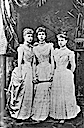 1894 Missy, Ducky, and Sandra, three princesses of Edinburgh