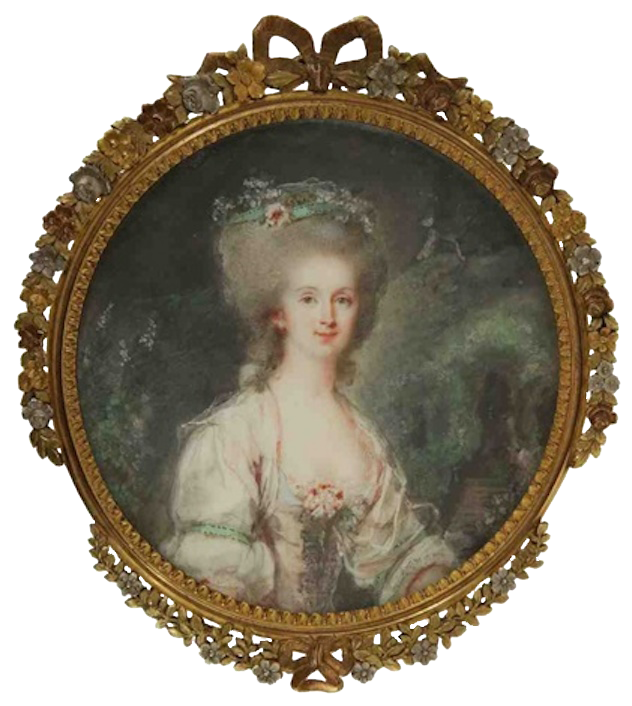 ca. 1785 Mme Helflinger, née Marianne O'Dunne by Pierre Adolfe Hall (auctioned by Larsen) From artnet.com:artists:pierre-adolphe-hall:past-auction-results X 2
