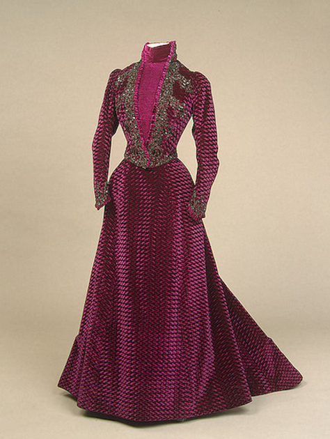 Morin Blossier dress embroidered velvet worn by Maria Feodorovna (State Hermitage Museum St. Petersburg Russia)