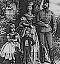 1867 The imperial couple in front of the Royal Castle at Gödöllo