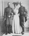 Nicholas II, Elena Vladimirovna, and Prince Nicholas of Greece From antique-royals.tumblr.com detint