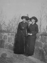 Possibly Olga and possibly Tatiana early spring shot (Romanov Collection, General Collection, Beinecke Rare Book and Manuscript Library, Yale University - New Haven, Connecticut USA)