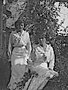 Olga(?) and Tatiana(?) wearing warm weather dresses (Romanov Collection, General Collection, Beinecke Rare Book and Manuscript Library, Yale University - New Haven, Connecticut USA)