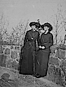 Olga(?) and Tatiana(?) early spring shot (Romanov Collection, General Collection, Beinecke Rare Book and Manuscript Library, Yale University - New Haven, Connecticut USA)