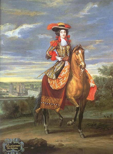 Olympe Mancini On Horseback By Location Unknown To Gogm
