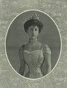 Princess Maud wearing a turn-of-the-century evening dress