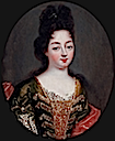 Oval portrait of Louise Françoise de Bourbon, Duchess of Bourbon (daughter of Louis XIV) by ? (location unknown to gogm)