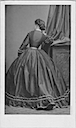 Pauline Metternich wearing a crinoline photographed from the back