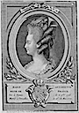 Portrait de Marie Antoinette by Nicolas Dupin (1753-?) after Jean-Baptiste van Loo (Bibliothèque nationale de France - Paris France)