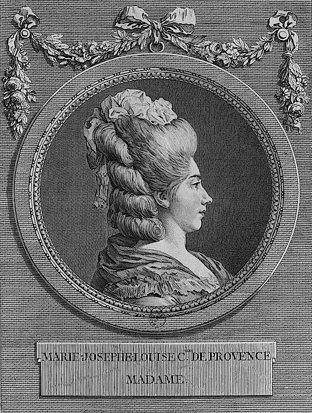 Portrait of Marie Josephine Louise of Savoy by Marie-Louise-Adélaïde Boizot after Louis-Simon Boizot (sculptor) (Bibliothèque nationale de France - Paris France) Wm detint